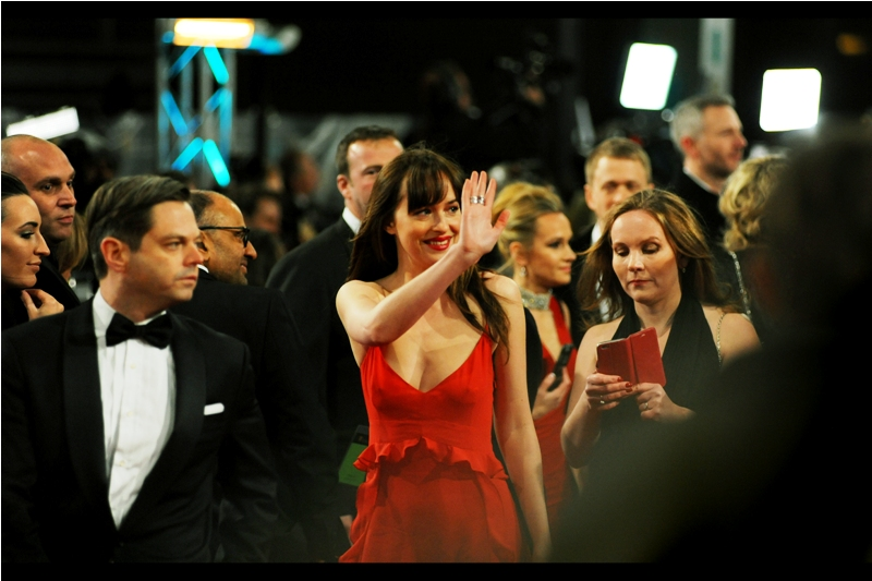 Despite being in the movie  'Fifty Shade of Grey'  (and last week's  'How to be Single' ) Dakota Johnson was unaccountably STILL nominated for the Bafta Rising Star Award.