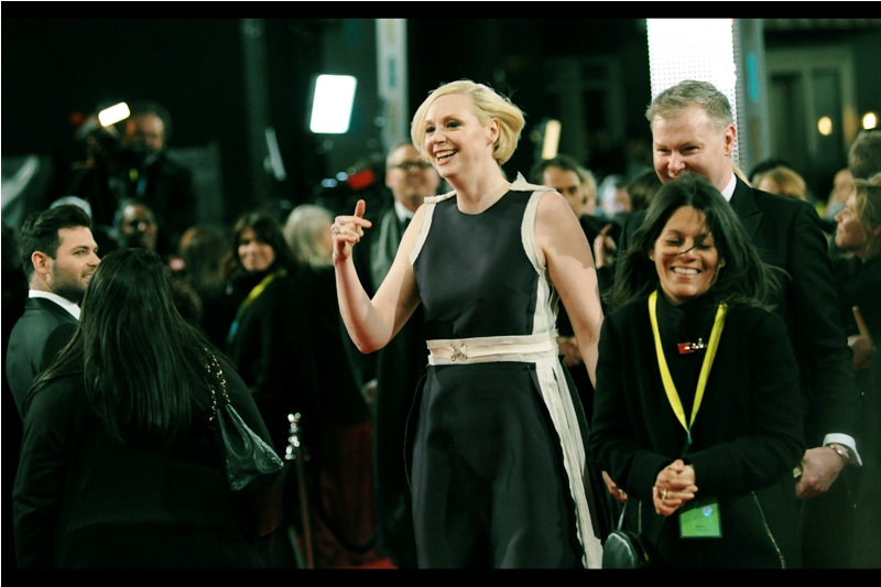 Best known for playing the awesome Brienne of Tarth in Game of Thrones and a useless Chrome action figure (not her fault) in the latest Star Wars film... is actress Gwendoline Christie