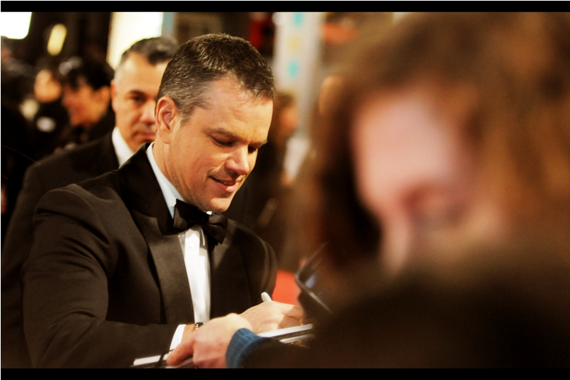 """""""Yeah.... we used the same ending plot device as Wall-E and Gravity. I argued against it and still got this nomination for Best Actor. I'm not too fussed"""" . Matt Damon's Bafta nomination was Best Actor  for 'The Martian'"""