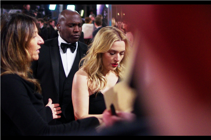 """""""Leo Signed as Mad Max? Fine... I'll sign as Furiosa...""""  - Leonardo's co-star from ' Titanic'  and  'Revolutionary Road'  Kate Winslet also won a Bafta on the night, Best Supporting Actress for  'Steve Jobs '"""