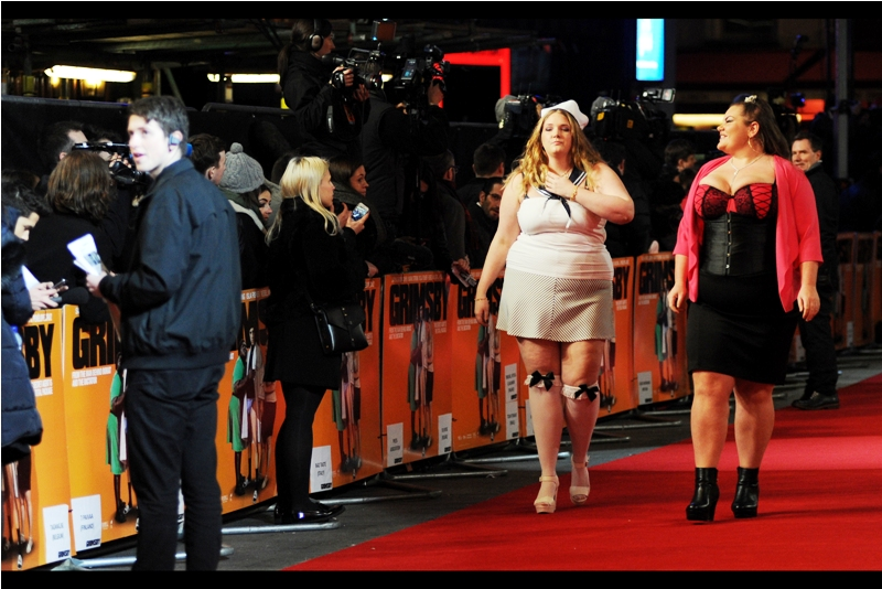 Meanwhile... at  the World Premiere of Grimsby at Leicester Square. ....