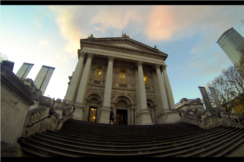 The Tate Britain is an art gallery with a formidable heritage. And here I was, at the bottom of these stairs, wondering what I was doing here while London's Autograph Dealer community were inside, not given to thoughts of irony, massed in the foyer passing time...