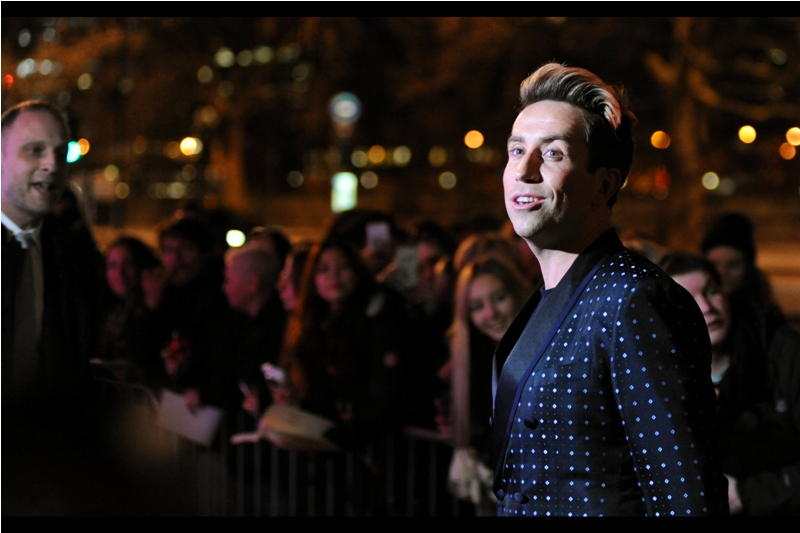 """""""The hair's real but the colour isn't. THAT'S style.""""  - radio's Nick Grimshaw may (or may not) be hosting this event, while his suit may (or may not) have been inspired by a bout of the chicken pox the designer's daughter was suffering with at the time it was conceived."""