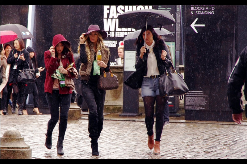 """Girl in Middle :  """"Do not try to bend the rain. That is impossible. Instead, only realise the truth : there is no rain."""""""