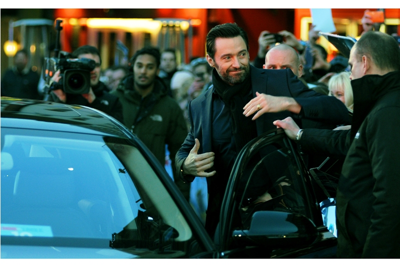"""Gary Barlow fans, huh? Yeah, he seems nice. I haven't met him, myself""  - Australia's Wolverine / Jean Valjean has arrived. I photographed him at both the premieres of  ""The Wolverine""  and  ""Les Miserables"" , but to me Hugh Jackman's finest film role was the awesome  ""Real Steel""  in 2011."