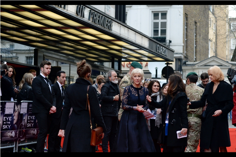Dame Helen Mirren has an Oscar, several Baftas, and an Olivier Award on her mantelpiece. I've got some framed family photos and some Bafta wristbands, if that counts as impressive?