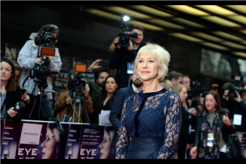 """Dame Helen Mirren has poise, elegance, and the ability to not give a crap when some paparazzo *cough* """"politely"""" requests that you look over the left shoulder (or OTHER left shoulder)"""
