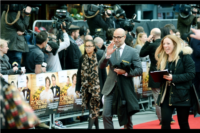 """No, I'm not in this movie... I'm just a normal person like everybody else here. Well.. except for everyone who's. not as well dressed as me"".  Not actually in this movie, but a welcome arrival nonetheless is actor Stanley Tucci, best known probably for  The Hunger Games movies , and sadly for not being the amazing Lex Luthor that might have been...."
