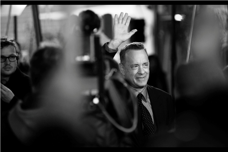 """Thanks guys. Good luck at the comic book movie premiere thing tomorrow. Try to remember it's just a lark""  Thanks, Tom Hanks. Good use of the word 'lark', by the way."