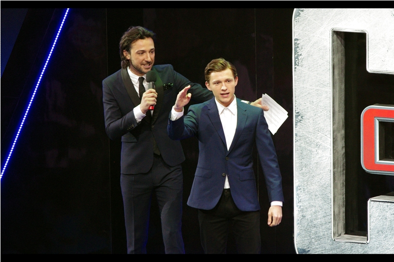 """""""Mum won't let me watch Deadpool, but I hear it's excellent"""" -  I've only photographed Tom Holland once, at  last year's 'In The Heart Of The Sea"""" premiere ."""