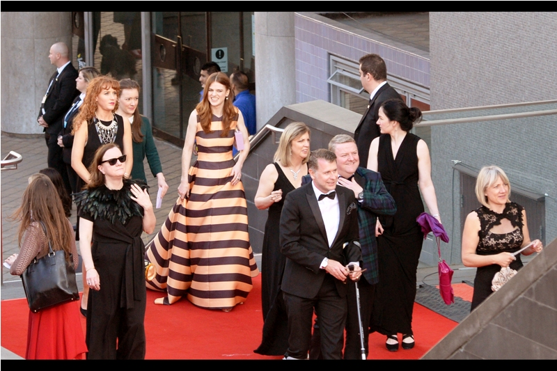 Amazingly I know who this is! Rose Leslie is (was) in Game of Thrones. And the dress is helping the autofocus on the camera, too