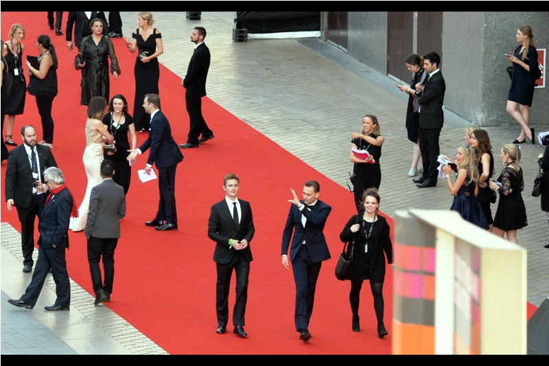 "The next big arrival : Tom Hiddleston, most recently of The Night Manager fame. However he's probably one of the people I've photographed most often at premieres - everything from  ""Thor""  and  ""Thor the Dark World "" and  ""The Avengers""  to  ""High-Rise"" ,  ""Only Lovers Left Alive""  and any number of Baftas, Bifas, Olivers and now TV Baftas."