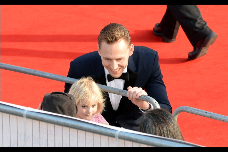 """It's okay. I'm not going to show her this photo until she's old enough to handle that evil grin!""  Tom Hiddleston's Loki remains probably still the only intelligent, coherent and compelling Marvel Cinematic Universe villain. Mainly because Tony Stark apparently ISN'T considered a supervillain.... you know, in spite of all evidence that you could put forward."
