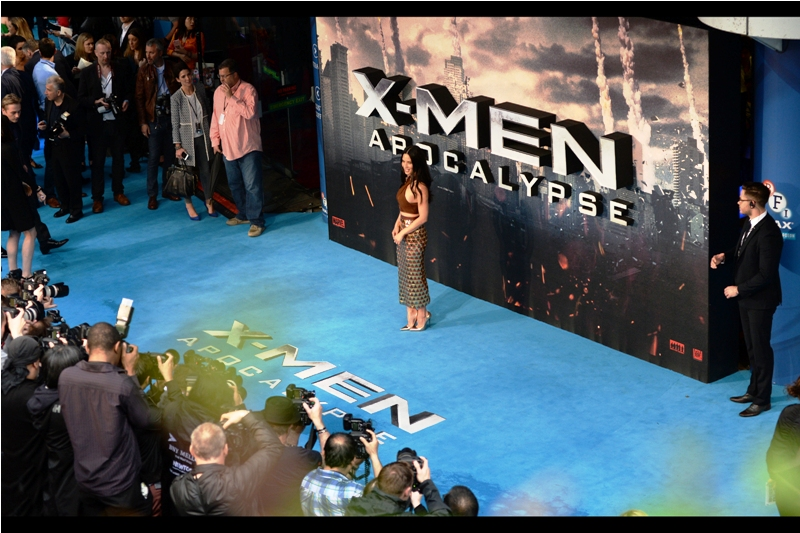 Olivia Munn plays 'Psylocke' in the film, but a quick review of her imdb.com entry reveals that she was also in Iron Man 2 - meaning she's been in movies across two different Marvel films! Only Ryan Reynolds, who was in both DC's Green Lantern and Fox/Marvel's Deadpool, can match that.