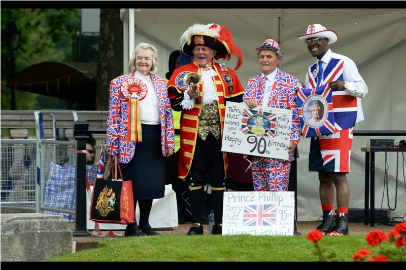 """""""Us? Monarchists? Nah... we just like any excuse to dress up like this. We'll be doing this tomorrow as well..."""""""