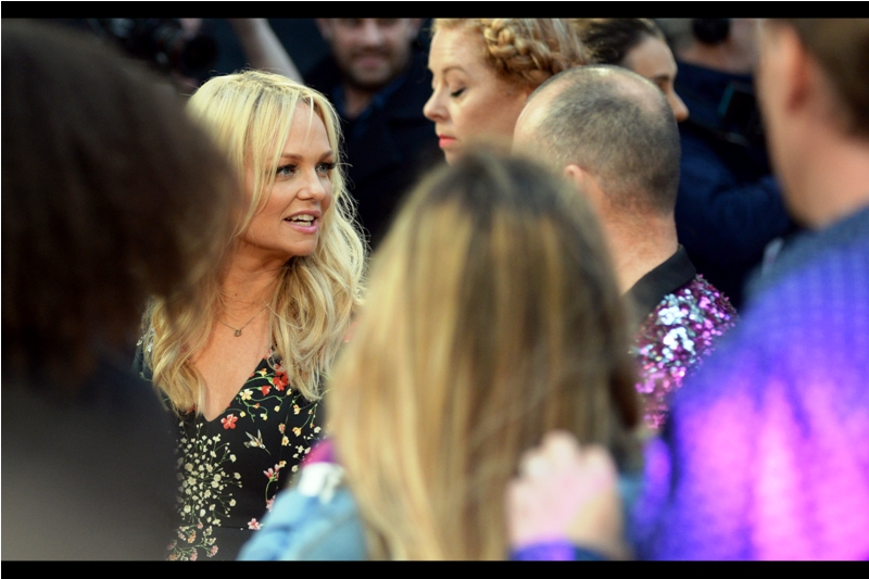 One quarter of the former Spice Girls was also at this premiere - Emma Bunton is/was Baby Spice, and I'm going to forego most of the obvious jokes to be made here because it's late and I'm tired. Write me if you think you've got anything particularly cutting.