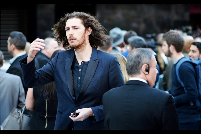 """The implausibly named yet awesomely coiffed """"Hozier"""" has arrived. Between the two of us, he and I possess enough hair to create one, maybe one and a half decent crew cuts."""