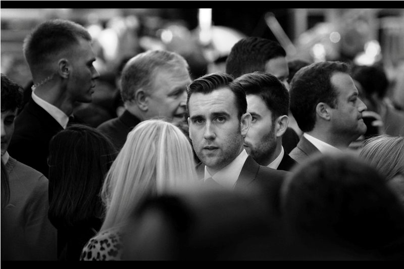 """""""Whose vine does somebody have to swing on to get a decent seat at this thing?""""  Another Harry Potter alumni present at this premiere - Matthew Lewis, who played Neville Longbottom in the films."""
