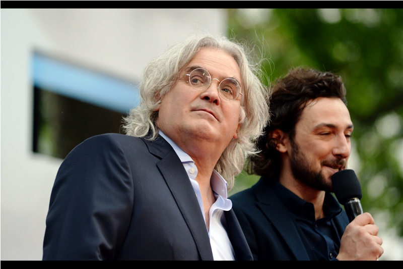 """Please welcome him on stage : the director and my personal inspiration for how I want my hair to look when I'm his age... Paul Greengrass!!!""  It's too late for me, hair-wise, but I can echo the sentiment anyway."