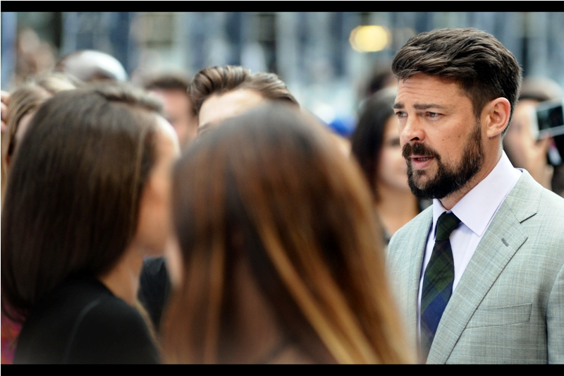 """But I don't want to sign autographs and pose for selfies. I'm an actor damnit, not a youtube pseudo-celebrity!""  - the first member of the slowly arriving cast has stumbled close to our area, and it's Karl Urban, who plays Dr (Bones) McCoy in the film."