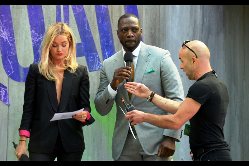 """""""We've checked for snipers but we can't really be sure we got all of them"""".  Not only does Adewale Akinnuoye-Agbaje have a spectacular name, but he's also accomplished what very few actors have managed : a named role in both a Marvel Comics film (he was in  Thor The Dark World ) AND a DC Comics film (this one). Whether Marvel is cool with that is not known."""
