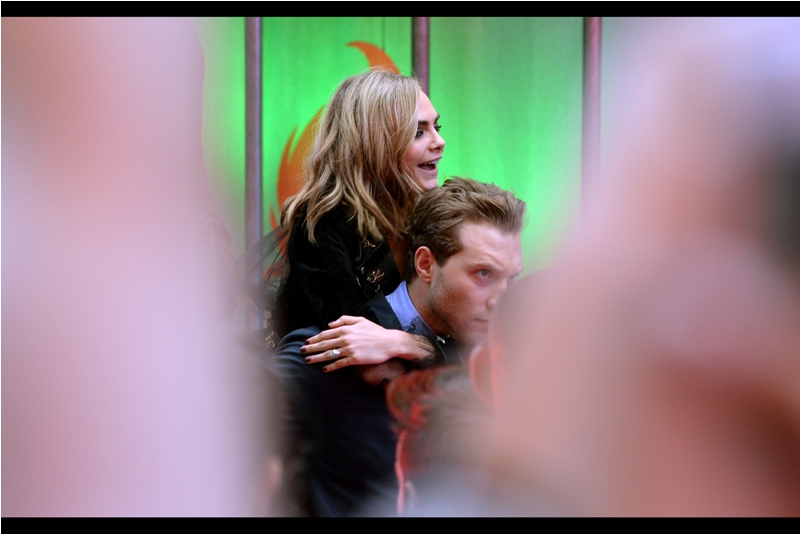 And then Jai Courtney gave Cara Delevingne a piggy back into the cinema.... and there's a chance I might have been imagining that.