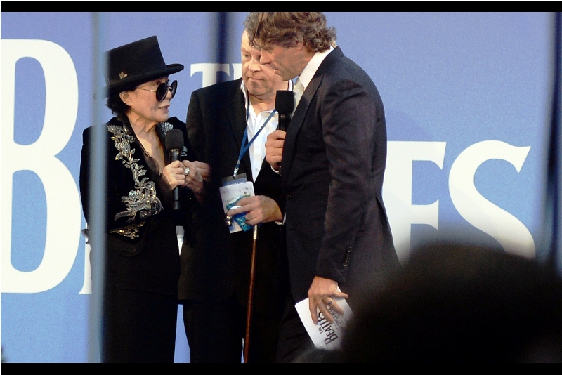 """I know you're, like, wealthy and probably don't need the money... but your hat is awesome. Is it for sale?""  - Yoko Ono is ex-wife of former Beatle John Lennon."
