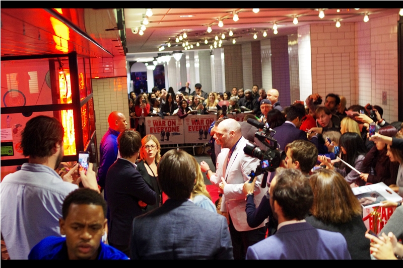 For over two hours, security were absolutely adamant that nobody (NOBODY) would be allowed along the edge of the perimeter barrier leading to the door. Then, a few seconds into the premiere, that law became a rule, that rule became a guideline, that guideline became a softly-spoken recommendation, and that softly-spoken recommendation was roundly ignored by people who just showed up and declined to move. That's Civilisation, y'all.