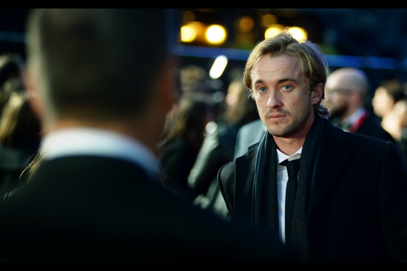"Not only is Tom Felton possibly avoiding eye-contact to avoid paying me the five dollars he owes me, but he was in Amma Asante's prior film ( the excellent and highly recommended ""Belle"" - and its premiere ) AND in this film as well."