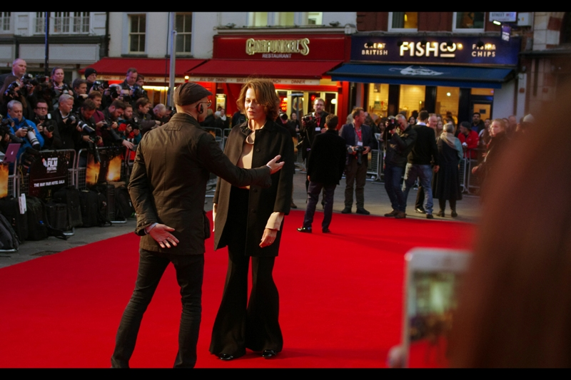 """""""Ma'am, I know that yesterday's BFI LFF opening gala film was all about the importance of tolerance... but I can't allow pants with flares that wide on my red carpet"""""""