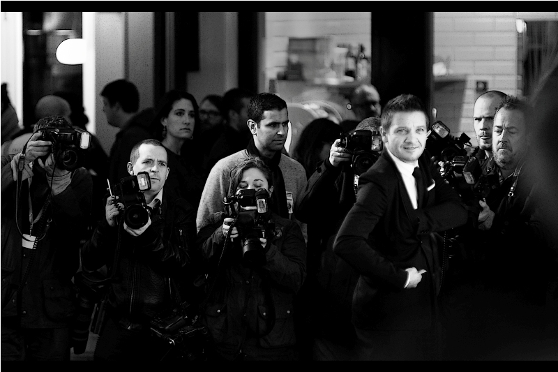 """I know the press wants to photograph me, but I'm really here for YOU""  Awww.. thanks Jeremy Renner. And though he attended both the  ""Avengers""  and  ""Avengers Age of Ultron""  premieres, he remains only my fifth or sixth favourite Avenger"