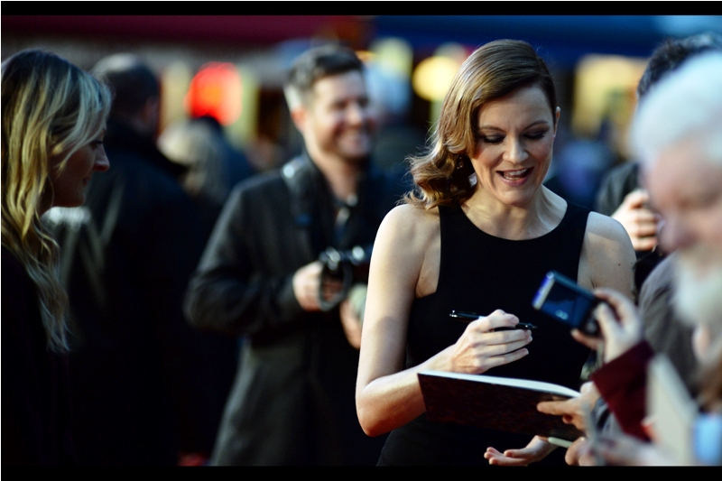 """It's a nice pen. Mind if I steal it?""  Rachael Stirling, among other films, was also in ""Snow White and the Huntsman"" - with Sam Claflin!"