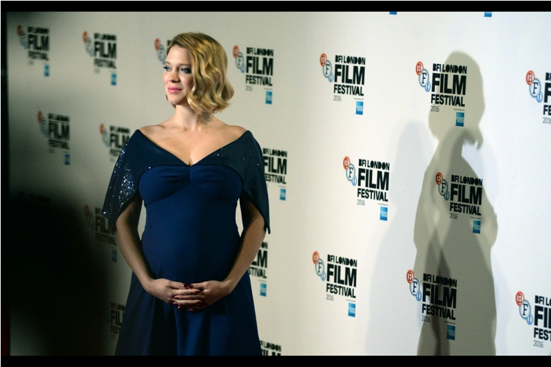 Lea Seydoux and Bump. (My keen knowledge of the female anatomy plus knowledgeable input from members of the crowd inform me that Lea Seydoux is presently With Child)