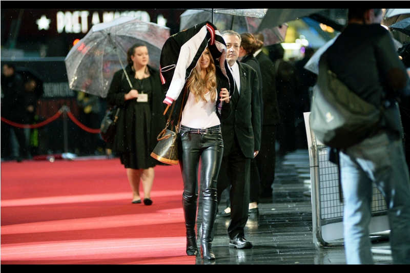 """... and he was absolutely adamant he couldn't loan me an umbrella. It's almost like he WANTED me to get wet!""  Selective chivalry should never be a strategic choice, gentlemen."