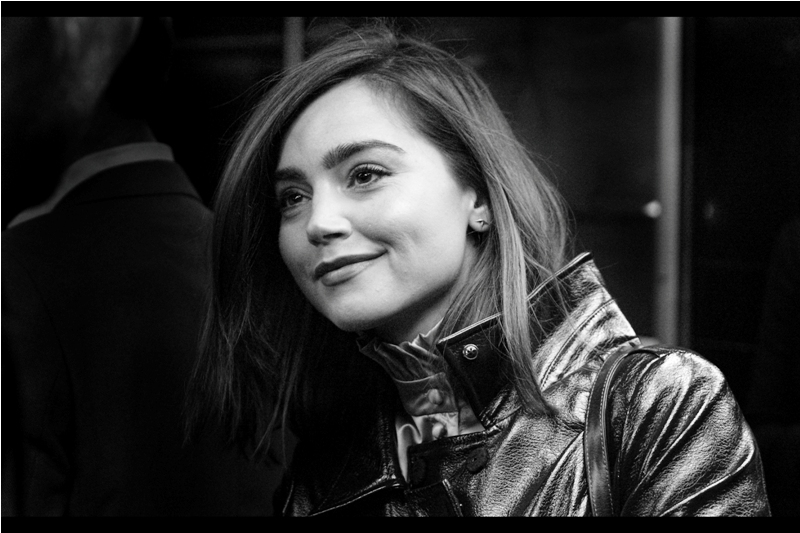 Another random (and if I may say Even Prettier) attendee - the lovely Jenna Coleman, last photographed by me at  the premiere of 'Me Before You' (also at the Curzon Mayfair).  And here she is, seemingly falling for the more obvious charms of Mo, my premiere sensei/guru who might possibly be not as much retired as he has been over the past year