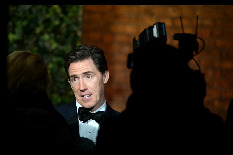 """""""well if I'd known everyone was going to be wearing a bow-tie, I wouldn't have.... """" - Rob Brydon"""