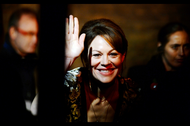 """""""If you can high-five me at this distance, feel free to""""  - Helen McCrory"""
