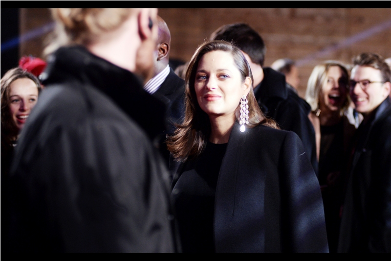 """Those people to my right and to my left are far too excited. I can't risk making eye-contact""  I last photographed Marion Cotillard a few months ago at the BFI London Film Festival premiere for  ""It's Only The End of the World"" . with Lea Seydoux and Xavier Dolan."