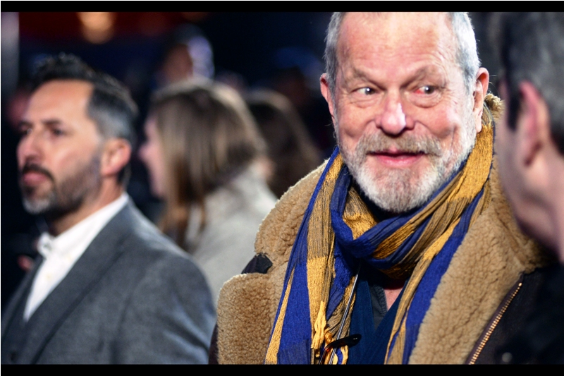 That photo of director Terry Gilliam is blurry,  I hear you observe. And you're absolutely right - but you'll notice the scarf he's wearing is tack-sharp. And as we know, Terry Gilliam doesn't wear scarves : Scarves Wear Terry Gilliam.