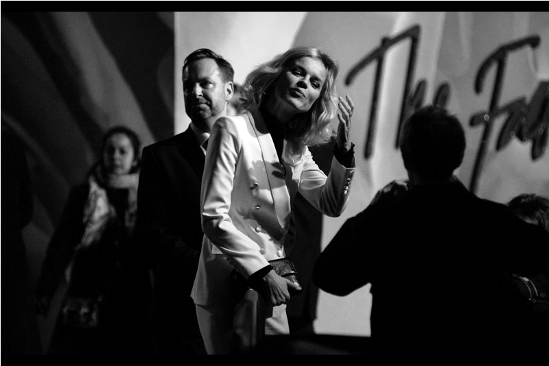 Th first photo from this event that I really like : Eva Herzigova, in black'n'white.