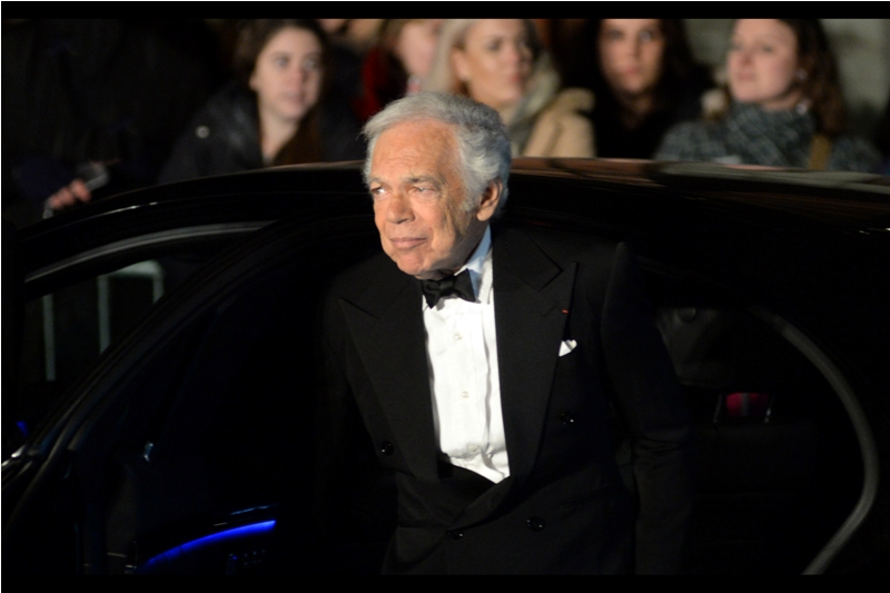 It's really late as I'm posting these, and I just skipped past posting a photo of model Lara Stone to bring you this gentleman. And I have no idea who he is.  (edited to add : designer Ralph Lauren - woohoo, a good random catch!)