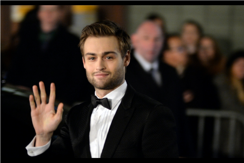 Actor Douglas Booth - still best known for being in the Wachowski Siblings'  Jupiter Ascending . He's going to need a starring role in a Tarantino or Christopher Nolan movie to depose that film from the #1 on his imdb's credits, I feel.