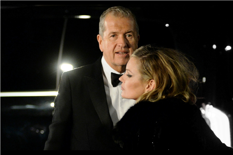 Photographer Mario Testino took model Rosie Huntington-Whitely to be his date to  last year's British Fashion Awards. ... and this year it's Kate Moss. I'll be honest, I can't quite claim to have the same level of mad dating skillz, or a tuxedo that sharp.