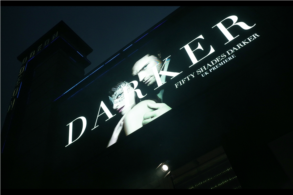 When I did the journal for the first  Fifty Shades of Grey premiere , I prided myself on making the images slightly desaturated and blue-tinged. With this one being 'Darker' I'm not sure whether I can push that aesthetic and still have a legible premiere.