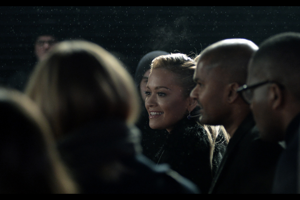Rita Ora is in this movie, but sadly elected not to linger (or do an on-carpet interview) in the area. In her defence, those water droplets hovering in the air come in at about zero degrees celsius. In the defence of fans and the studio, she is meant to be promoting a movie (I'm doing MY bit)
