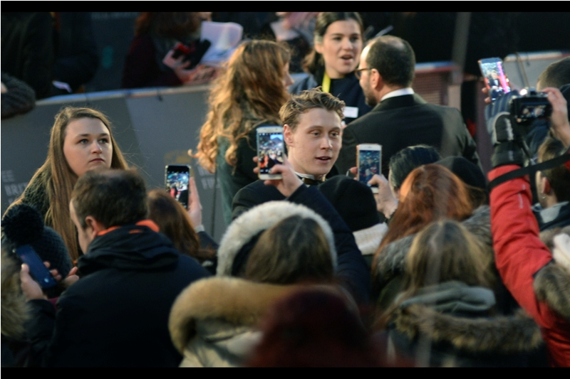 """Wait.. are you all just watching the live steam of the event you're physically at on your mobile phones while you're at that event??""  (edited to add : George MacKay - he's in Captain Fantastic)"