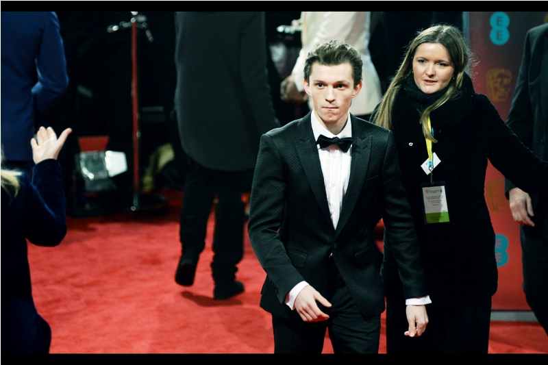 Not only is Tom Holland the new Spider-Man in  Marvel's cinematic universe , but he won the EE Rising Star Bafta Award on the night as well.
