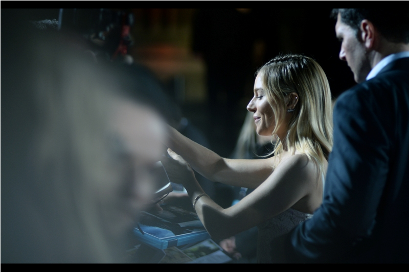 "Our next arrival is actress Sienna Miller, who I missed photographing earlier this year as I missed the premiere of ""Live By Night"", but I have previously photographed at the premieres of  ""Burnt (2015)"" ,  ""High-Rise (2015)""  and  ""Foxcatcher (2014)"""
