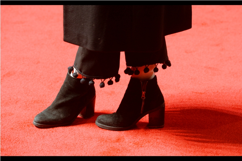 As previously noted (and posted about for the last four days)  London Fashion Week  is on right now. So just for now I'm actually noticing little things like miniature pompoms hanging off the bottom of trousers worn under a dress/jacket.