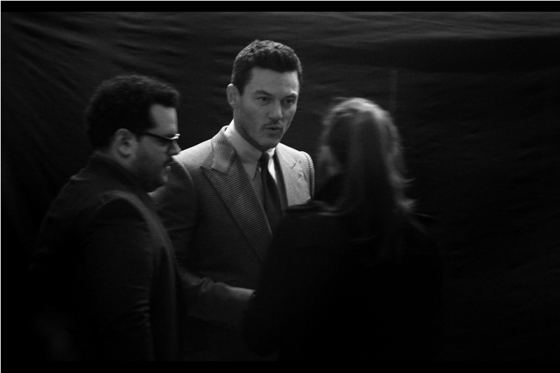 There's movement from inside the cinema, the photographers get ready, and out walks : Luke Evans! I last photographed him at   the 2017 Baftas a few weeks ago   and I have just enough motivation to go onto imdb.com to find out he plays Gaston in the film.